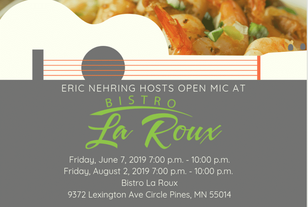 Eric Nehring to Host Open Mic at Bistro La Roux